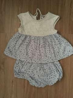 Gingersnaps outfit for baby girls