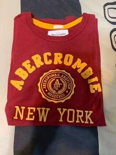 Brand New Maroon Abercrombie and Fitch A&F shirt