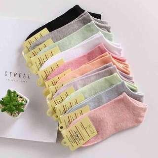 🚚 糖果色女生淺口船襪