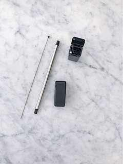 Black foldable stainless straw