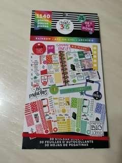 BN Happy Planner Sticker Book Rainbow