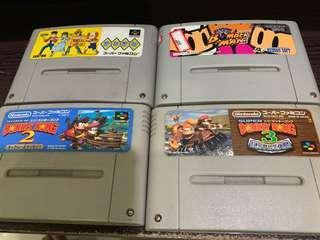 4 game tapes for selling Super Famicom