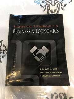 Statistical Techniques in Business & Economics
