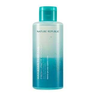 Make up remover nature republic hawaiian deep sea lip & eye remover 120 ml