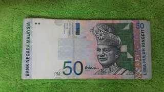 Currency rm50 A sign collection