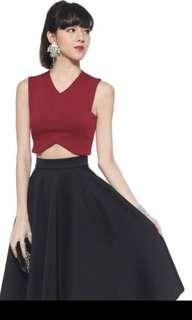 BN Love Bonito Covet Halon Skirt in Black (Size S)