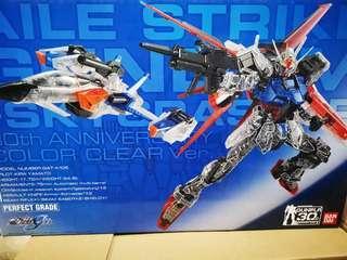 PG Perfect Grade Aile Strike Gundam 30th Anniversary Color Clear Version