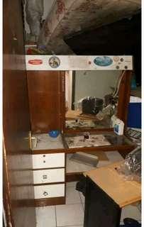 Meja rias classic lama bahan kayu jati