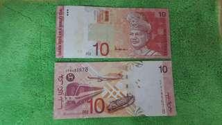 Currency rm10 A sign nicely number
