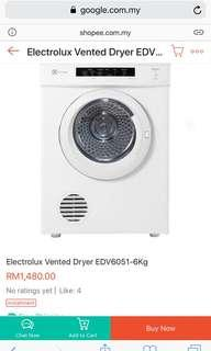 Electrolux Washing Machine edv6051