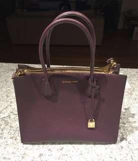 Authentic Michael Kors Large Leather Tote Plum