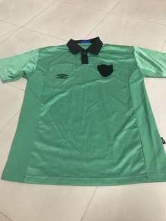 Umbro green polo