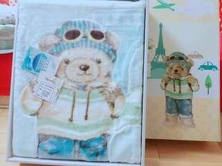新生兒禮盒-熊熊毛毯