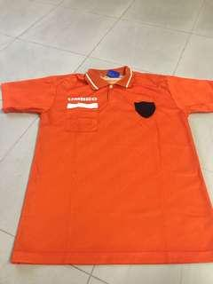 Umbro orange polo