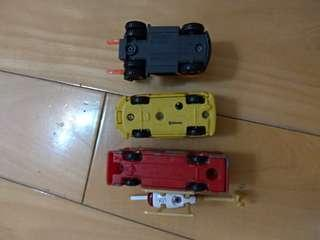 Toy Cars tomica folk lift Bus helicopter