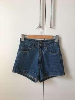 Factorie high waisted denim shorts 8