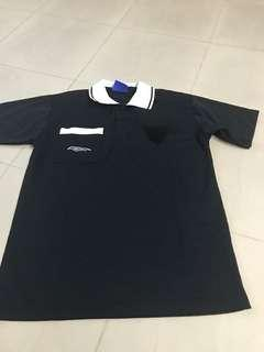 Umbro black polo