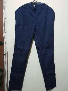 Zara Navy Chino Pants