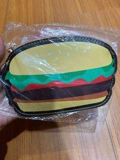 🚚 漢堡🍔零錢包鑰匙包卡片包萬用包-全新