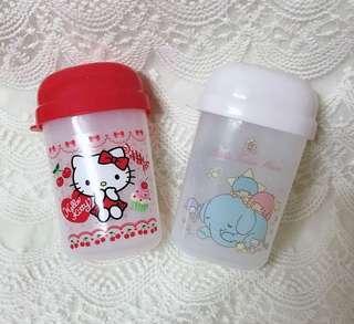 全新❤️ 日貨 kitty 雙子星 小物收納罐 三麗鷗