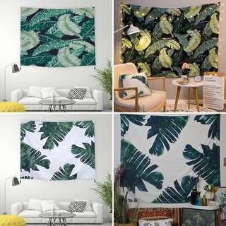 Leaves print Tapestry Mat