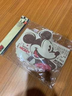 🚚 迪士尼米奇米老鼠化妝包筆袋-全新
