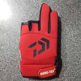 DAIWA fishing 3 finger cut gloves