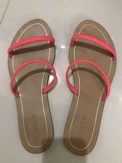 J Crew neon pink sandals