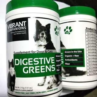 Vibrant Companions, Digestive Greens Supplement for Dogs & Cats, 213g