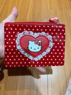 🚚 Hello Kitty 面紙包零錢包愛心蕾絲點點
