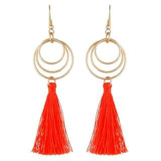 Gold and Orange Tassel Earrings (Brand New - $3!)