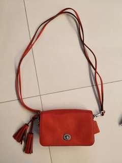 coach sling bag red