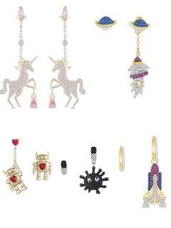Fun Earrings UNICORN DINO RAINBOW