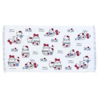 sanrio Hello Kitty Cotton Towel (105 x 50cm) 大毛巾 (出入口已剪標毛巾)