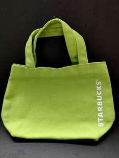 全新STARBUCKS綠色小手提袋