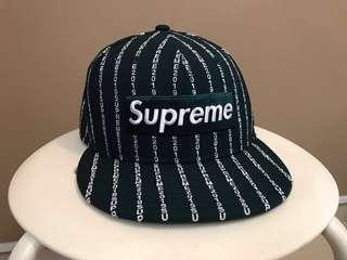 b9a58328e1c Supreme Text Stripe New Era Cap