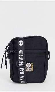 Aape by A bathing aape black flight bag