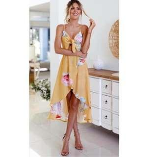 Ribbon cutout sexy summer dress