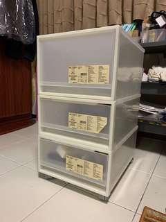 🚚 Muji stackable drawers
