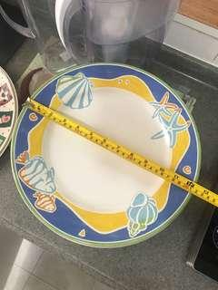 Plates Blue Yellow Circle Flowers #EndgameYourExcess