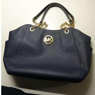 Micheal Kors Navy Blue Handbag