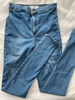 Top shop (JONI style) high waisted jeans waist:30 length:36