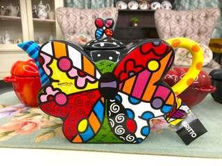 Romero Britto Butterfly Large Teapot