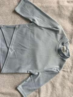 Baby blue forever 21 (size M) crop top in perfect condition