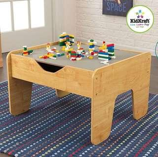 """(PO) BN KidKraft 2-in-1 Activity Art N Craft Table with Board for LEGO , 28.5"""" x 23.5"""" x 3.25"""" Gray/Natural"""