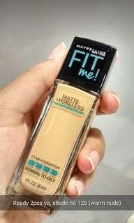 Maybelline Fit Me Matte & Poreless Foundation Shade 128