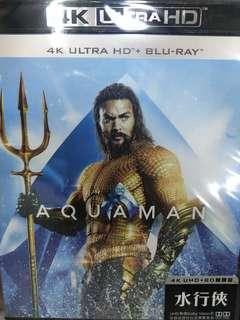 全新 行貨中字 水行俠  AQUAMAN (4K UHD+2D)(雙碟裝) blu ray