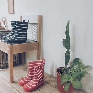 瑞典polarn o.pryet兒童條紋雨鞋