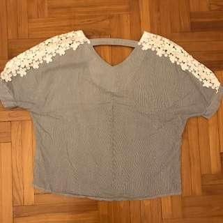 flower shoulder blouse