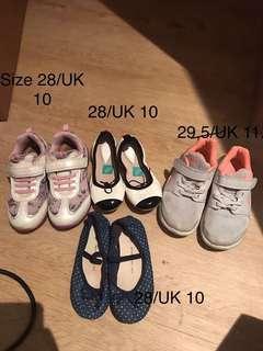 🚚 Geox, Nike, Bloch, GAP shoes size